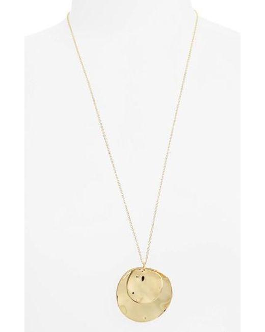 Gorjana | Metallic Chloe Long Cluster Pendant Necklace | Lyst