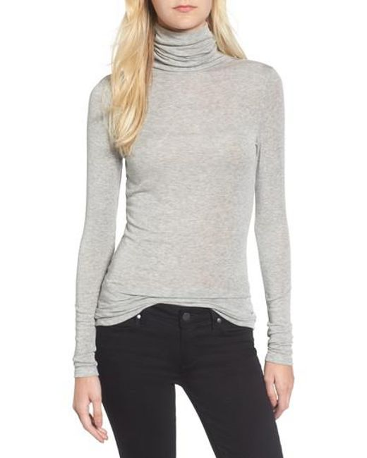 Chelsea28 - Gray Layering Turtleneck - Lyst