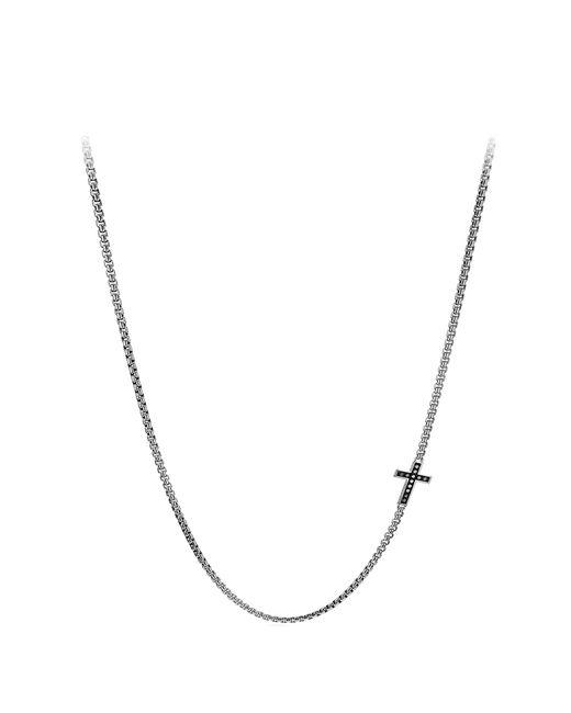 David Yurman - Metallic Pave Cross Necklace With Diamonds for Men - Lyst