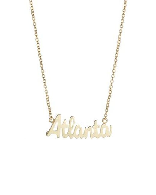Argento Vivo - Metallic Script Atlanta Pendant Necklace - Lyst