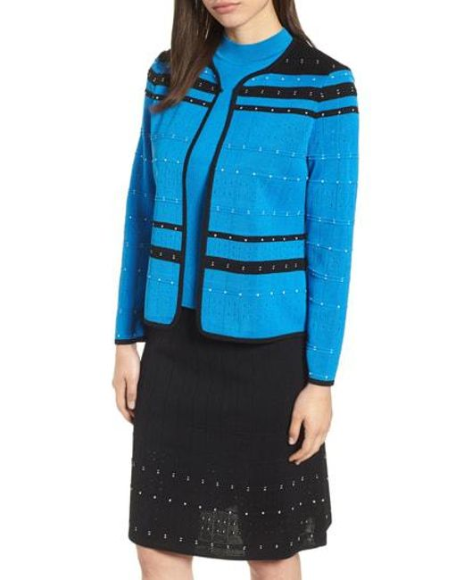 Ming Wang - Blue Stripe Jacket - Lyst