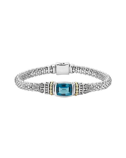 Lagos - Blue 'caviar Color' Semiprecious Stone Bracelet - Lyst