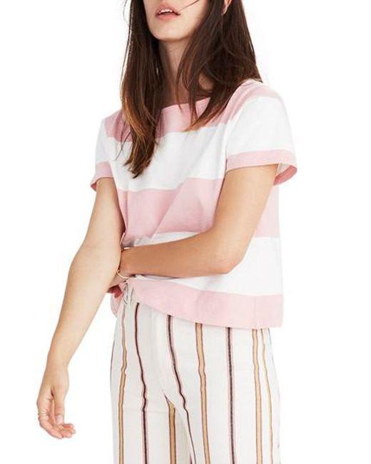 Madewell - Pink Setlist Boxy Stripe Tee - Lyst
