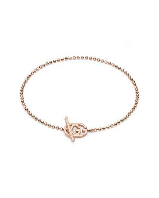 Perle Bracelet Manchette Chaîne - Gucci Métallique aMNR7