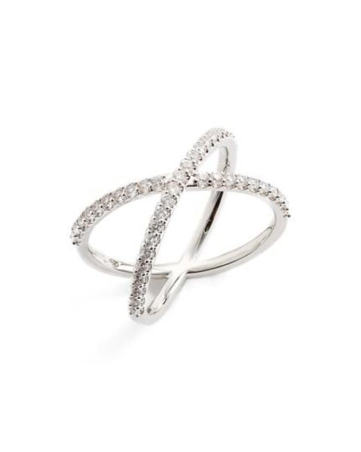 Nadri - Metallic Crossover Cubic Zirconia Ring - Lyst