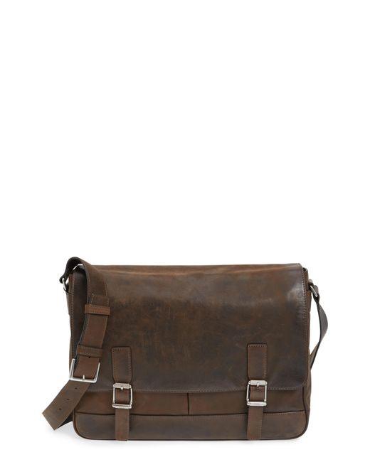 Frye - Brown Oliver Leather Messenger Bag - for Men - Lyst