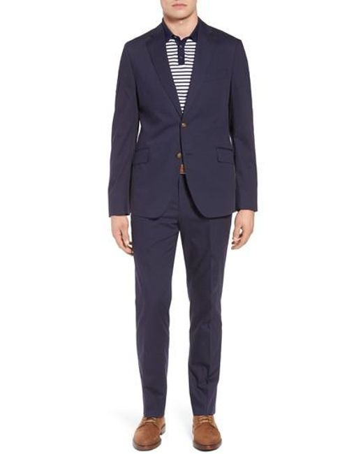 Kroon - Blue Irons Aim Classic Fit Solid Cotton Blend Suit for Men - Lyst