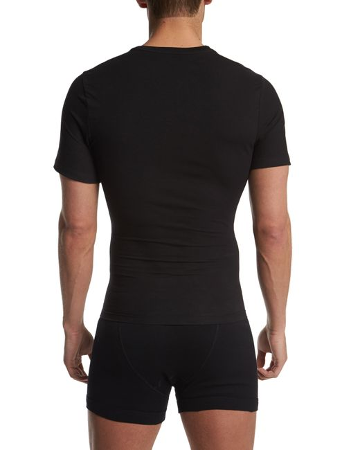Spanx White Spanx Crewneck Cotton Compression T-shirt for men