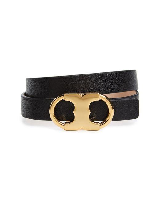 Tory Burch - Black Gemini Link Reversible Wrap Bracelet - Lyst