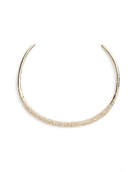 Alexis Bittar | Metallic Thin Encrusted Collar Necklace | Lyst