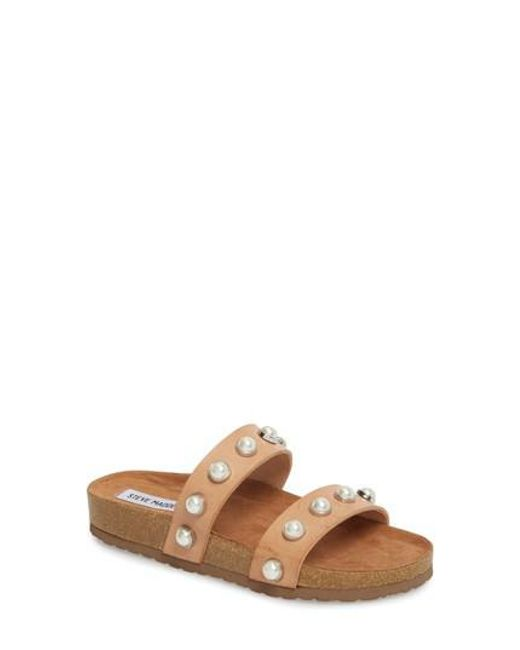 e32abb95450 Lyst - Steve Madden Asset in Natural - Save 48%