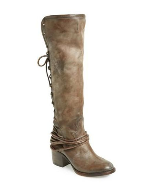 Freebird by Steven | Gray 'coal' Tall Leather Boot | Lyst