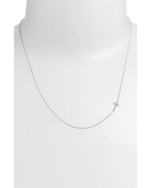 Bony Levy | White Reversible Diamond Cross Pendant Necklace (nordstrom Exclusive) | Lyst