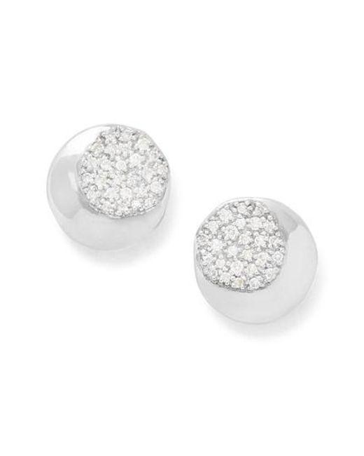 Ippolita | Metallic Onda Pave Diamond Stud Earrings | Lyst