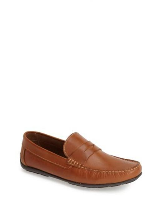 Sandro Moscoloni | Brown 'paris' Leather Penny Loafer for Men | Lyst