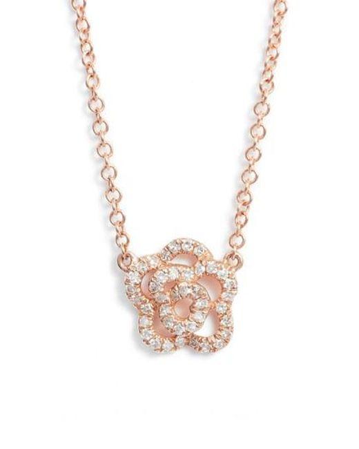 EF Collection | Metallic Diamond Pendant Necklace | Lyst
