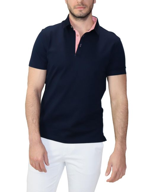 Lorenzo Uomo Blue Solid Polo for men