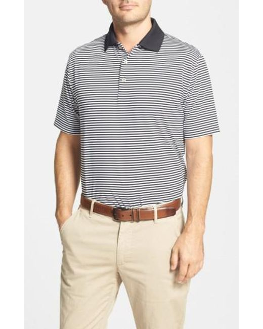 Peter Millar - Black 'competition' Stripe Stretch Microfiber Golf Polo for Men - Lyst