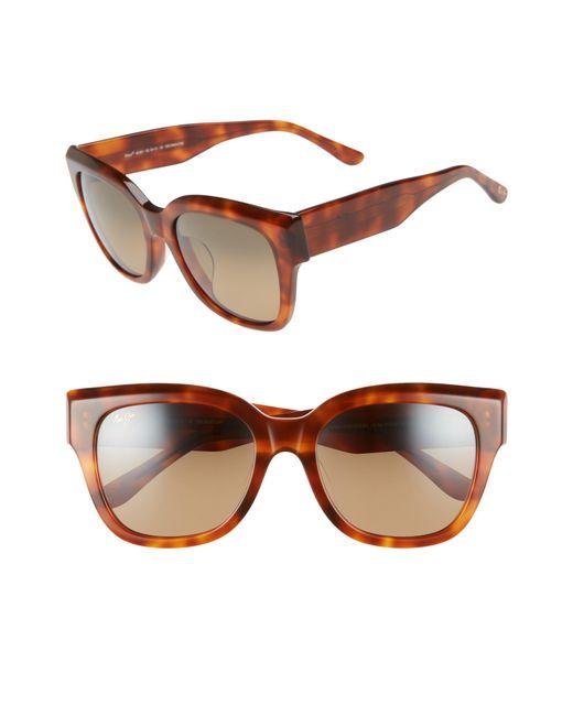 Maui Jim - Brown Siren Song 54mm Polarizedplus2 Cat Eye Sunglasses - - Lyst