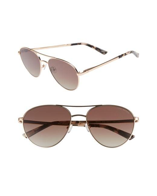 Ted Baker - Multicolor 55mm Aviator Sunglasses - - Lyst