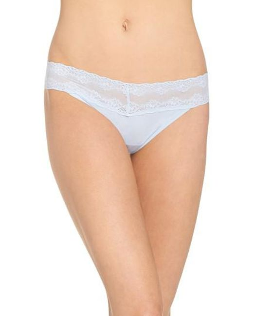 Natori - Blue Bliss Perfection Thong - Lyst