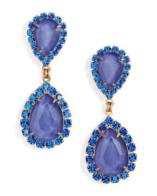 Loren Hope | Blue Abba Crystal Drop Earrings | Lyst