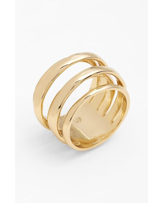 Alexis Bittar Metallic 'miss Havisham - Kinetic Gold' Stack Ring