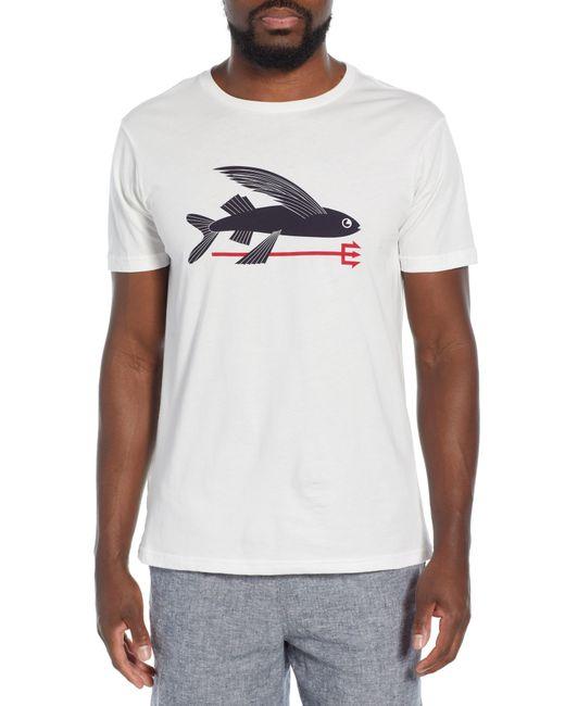 Patagonia White Flying Fish Regular Fit Organic Cotton T-shirt for men