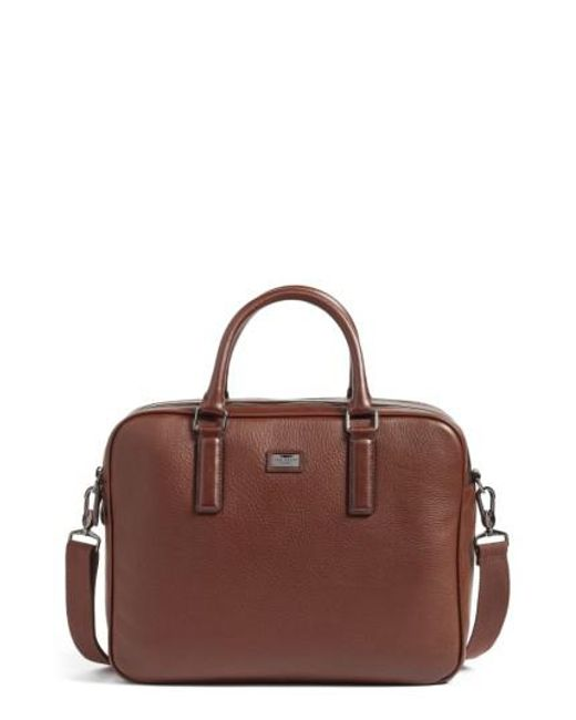 Ted Baker | Brown Leather Document Bag for Men | Lyst