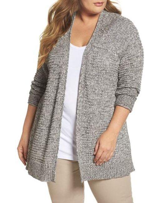 Caslon - Natural Caslon Easy Knit Cardigan - Lyst