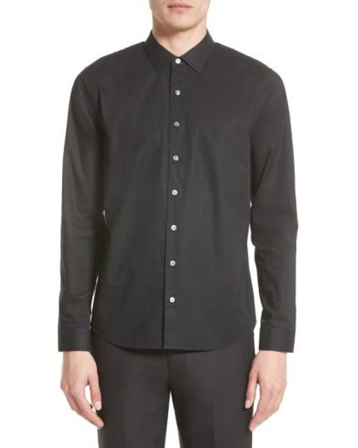 ATM - Black Cotton Dress Shirt for Men - Lyst