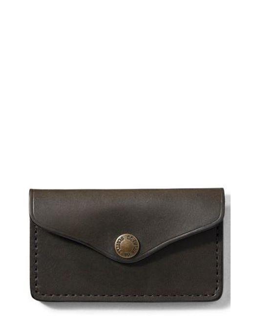 Filson - Black Snap Leather Wallet - Lyst