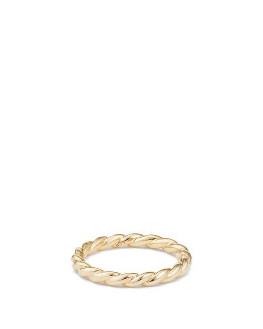 David Yurman - Metallic Paveflex 18k Gold Petite Ring - Lyst