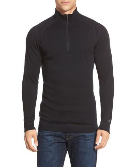 Smartwool | Black 'nts Mid 250' Long Sleeve Half Zip Pullover for Men | Lyst