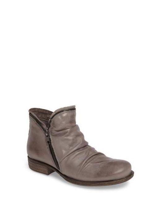 Miz Mooz   Gray 'luna' Ankle Boot   Lyst