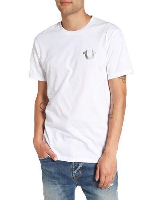 True Religion | White True Religion Silver Buddha T-shirt for Men | Lyst