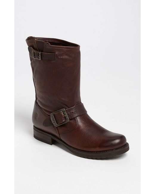 Frye - Brown 'veronica Shortie' Slouchy Boot - Lyst