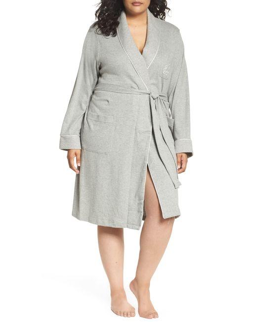 Lauren by Ralph Lauren White Shawl Collar Robe