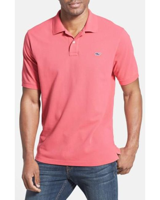 Vineyard Vines | Pink 'classic' Pique Knit Polo for Men | Lyst