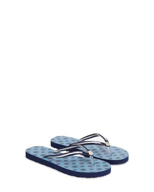 Tory Burch | Blue Thin Flip Flop | Lyst