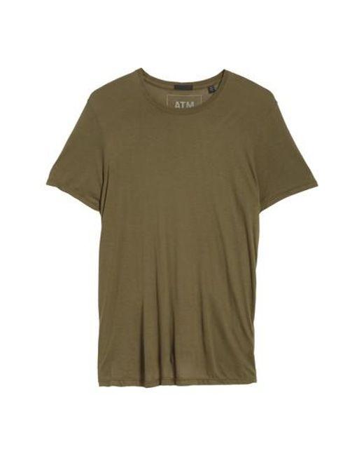 ATM | Green T-shirt for Men | Lyst