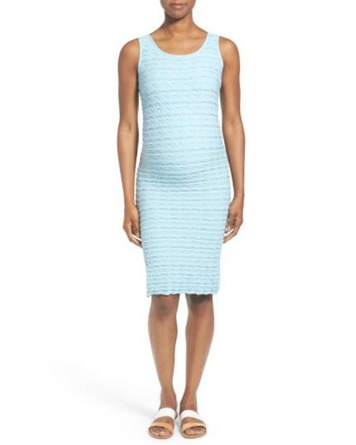 Tees by Tina | Blue 'crinkle' Tank Maternity Dress | Lyst