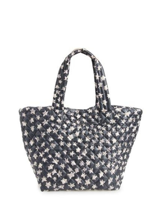 MZ Wallace - Black 'medium Metro' Quilted Oxford Nylon Tote - Lyst