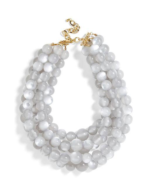 BaubleBar Gray Cassarah Beaded Multistrand Necklace