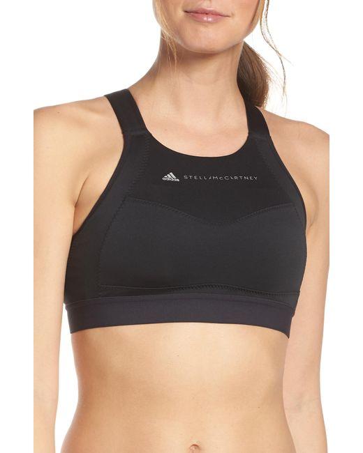 98dc31c703842 Adidas By Stella McCartney - Black Performance Essentials Sports Bra - Lyst
