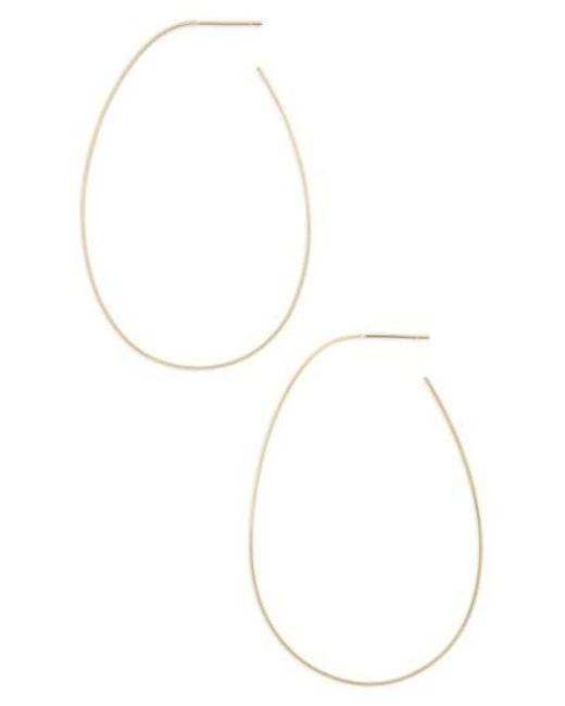Lana Jewelry   Metallic Bond Teardrop Hoop Earrings   Lyst