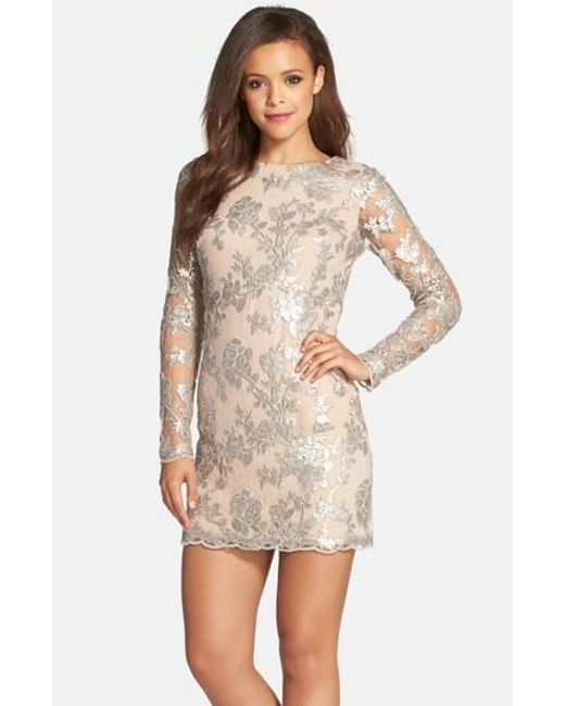 Dress the Population | Metallic Grace A-line Dress | Lyst