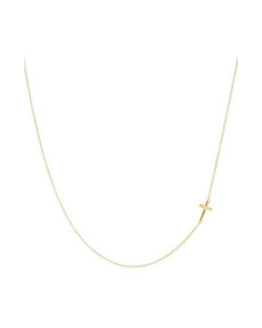 Bony Levy - Metallic Cross Station Necklace (nordstrom Exclusive) - Lyst