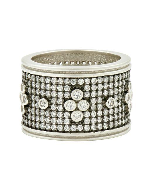 Freida Rothman - Metallic Clover Wide Band Ring - Lyst