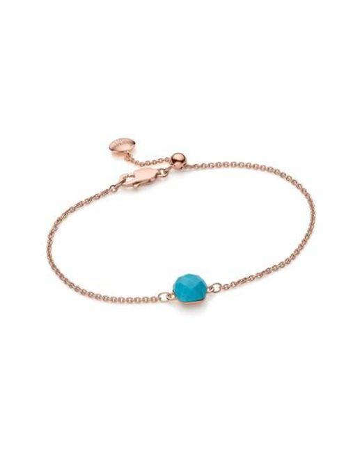 Monica Vinader   Blue Nura Mini Nugget Bracelet   Lyst